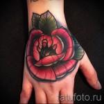 розы олд скул тату - фото вариант от 15122015 № 21