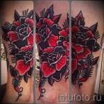 розы олд скул тату - фото вариант от 15122015 № 22