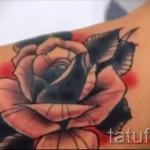 розы олд скул тату - фото вариант от 15122015 № 24