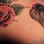 розы олд скул тату - фото вариант от 15122015 № 25