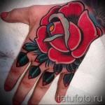 розы олд скул тату - фото вариант от 15122015 № 6
