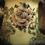 розы олд скул тату - фото вариант от 15122015 № 9