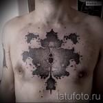 тату абстракции на груди - фото пример от 21122015 № 3
