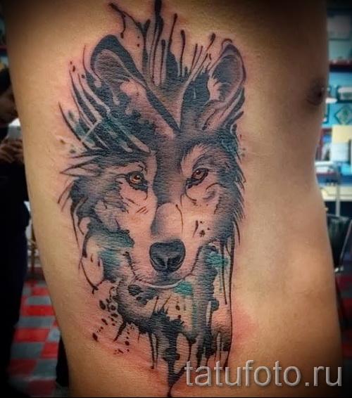 тату абстракция волка - фото пример от 21122015 № 10
