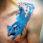 тату абстракция волка - фото пример от 21122015 № 14