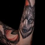 тату абстракция волка - фото пример от 21122015 № 17