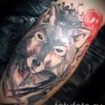 тату абстракция волка - фото пример от 21122015 № 2
