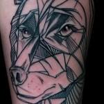 тату абстракция волка - фото пример от 21122015 № 4