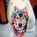 тату абстракция волка - фото пример от 21122015 № 5