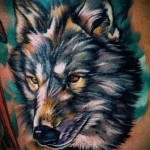 тату абстракция волка - фото пример от 21122015 № 7