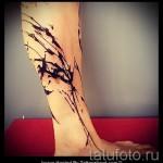 тату абстракция на ногу - фото пример от 21122015 № 10