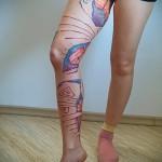 тату абстракция на ногу - фото пример от 21122015 № 6