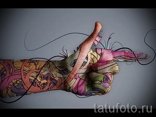 тату абстракция на руку - фото пример от 21122015 № 16
