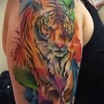 тату абстракция тигра - фото пример от 21122015 № 1