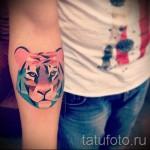 тату абстракция тигра - фото пример от 21122015 № 3