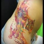 тату абстракция тигра - фото пример от 21122015 № 7