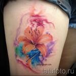тату акварель цветы - фото вариант от 21122015 № 3