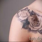 тату белая роза - фото вариант от 15122015 № 1