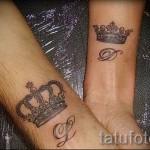 тату буква д - фото готовой татуировки - 20122015 № 3