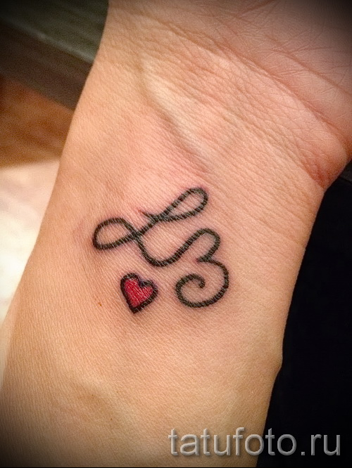 тату буква л - фото готовой татуировки - 20122015 № 4