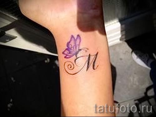 тату буква м - фото готовой татуировки - 20122015 № 21