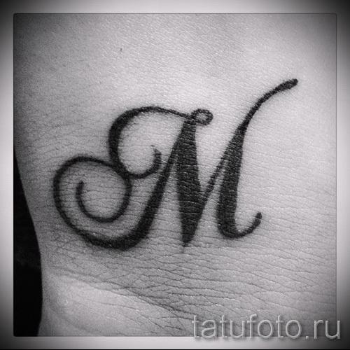 тату буква м - фото готовой татуировки - 20122015 № 4