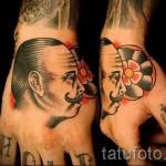 тату буквы на руке - фото готовой татуировки - 20122015 № 16
