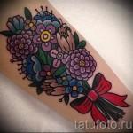 тату букет цветов - фото вариант от 21122015 № 1