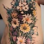 тату букет цветов - фото вариант от 21122015 № 5
