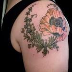 тату венок из цветов - фото вариант от 21122015 № 2