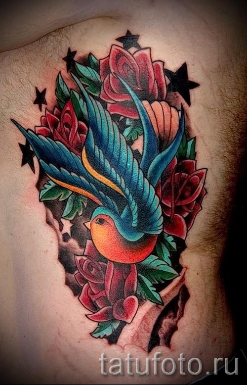 тату воробей - фото примеры татуировки от 07122015 10