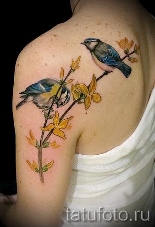тату воробей - фото примеры татуировки от 07122015 15