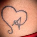 тату в виде буквы а - фото готовой татуировки - 20122015 № 3