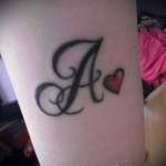 тату в виде буквы а - фото готовой татуировки - 20122015 № 4