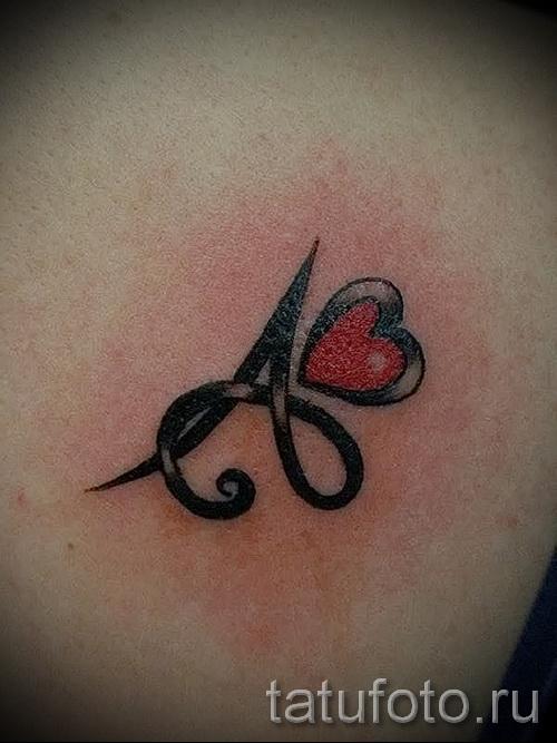 тату в виде буквы а - фото готовой татуировки - 20122015 № 5