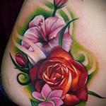 тату графика цветы - фото вариант от 21122015 № 2