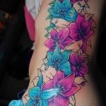 тату графика цветы - фото вариант от 21122015 № 3