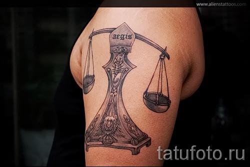 тату знак весы на руке - фото пример от 13122015 № 13