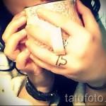 тату знак весы на руке - фото пример от 13122015 № 2