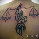 тату знак весы на спине - фото пример от 13122015 № 3