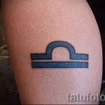 тату знак зодиака весы - фото пример от 13122015 № 2