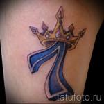 тату корона с буквой - фото готовой татуировки - 20122015 № 8