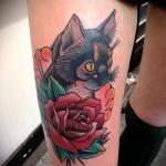 тату кошки в цветах фото- фото вариант от 21122015 № 4
