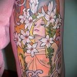 тату красивые цветы - фото вариант от 21122015 № 6