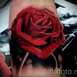 тату красная роза - фото вариант от 15122015 № 3
