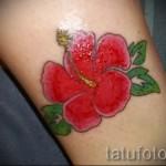 тату красный цветок - фото классной татуировки от 21122015 № 6