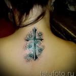 тату крест с цветами - фото вариант от 21122015 № 9