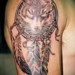 тату ловец снов и волк - фото пример от 11122014 № 10