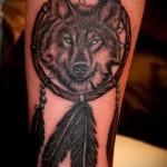 тату ловец снов и волк - фото пример от 11122014 № 18