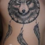 тату ловец снов и волк - фото пример от 11122014 № 2